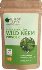 Wild Neem Leaves Powder | 100GM | Great For Face, Hair, Skin & Body-100% Pure