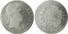 NAPOLEONE IMPERATORE , 5 FRANCHI TESTA LAUREE ARGENTO , 1812 L BAYONNE