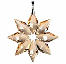 Hanging Crystal Snowflake Christmas Tree Ornament Home Party Decoration Pendant