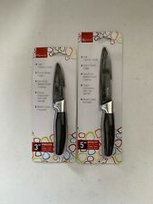 New England Cutlery 2 Piece Knife Set, Paring/Utility Black, New. Great Knives