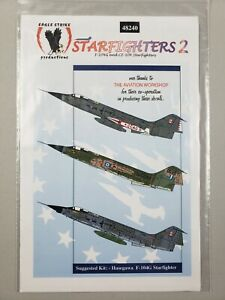 "Eagle Strike Productions Decals 1/48 ""Starfighters 2"" Hasegawa F104G #48240"