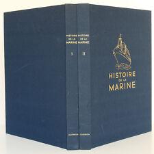 Histoire de la marine TOUDOUZE de la RONCIERE … L'Illustration 1966. 2 volumes.