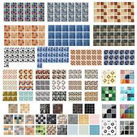 19pcs Kitchen Waterproof Tiles Mosaic Wall Stickers Bathroom Adhesive Home Decor
