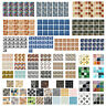 19pcs Kitchen Waterproof Tiles Mosaic Wall Stickers Bathroom Adhesive Home Decor