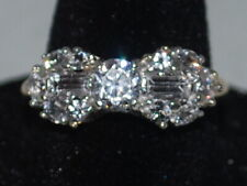 10k Gold ring with CZ's in a bow design