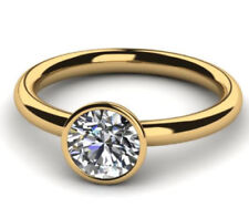 Diamantring Solitär 0,50 Ct. D IF Brillant Ring 750 Gelbgold + GIA Zertifikat