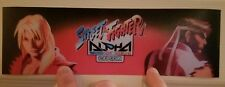 Street Fighter Alpha marquee sticker. 3.25 x10.5 (Buy 3 stickers, Get One Free!)