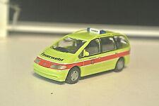 Wiking 60102 1/87 Volkswagen VW Sharan Zurich Fire Dept  NIB
