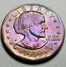 "1979- P SUSAN B Anthony Dollar US Mint Coin ""Uncirculated"" Toning Gem"
