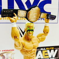 WCW Big Gold Belt Faux Leather for Hasbro/Mattel/Jakks Figures WWE WWF
