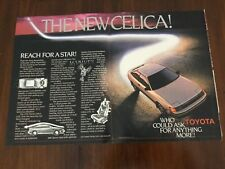 1985 Toyota Celica Advertisement.  From Life Magazine   Two Page   Big Size