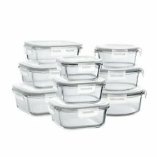New listing Glass Storage Containers with Lids, 18 Pieces Glass Meal Prep Containers