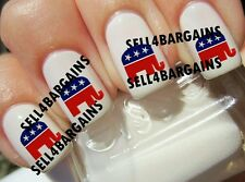 VOTE REPUBLICAN ELEPHANT LOGO》Tattoo Nail Art Decals