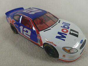 Mattel Nascar Die Cast Toy Race Car 1/24 1999 #12 Mobil 1 Jeremy Mayfield Blue