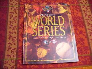 Major League Baseball 1993 World Series Program - (Phillies vs. Blue Jays) - NEW