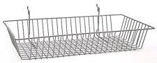 "Only Hangers Chrome Slatwall Gridwall Multi Basket 24"" W x 12"" D x 4"" H- 1 piece"