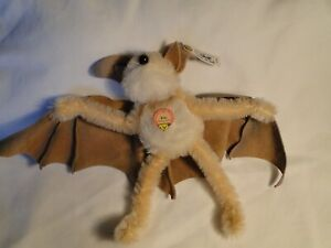 Steiff Bat Eric chest tag ear button 00088 7''tall 13 1/2''wing span black eyes