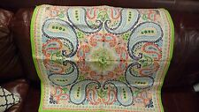 NEW Pottery Barn Lia Paisley COOL Lime Green Blue Orange Pillow Cover LARGE 24""