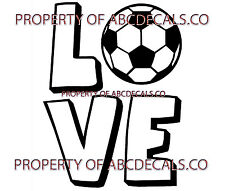 VRS Love Logo Soccer Ball Futbol CAR DECAL VINYL STICKER