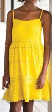 "BOOM SHANKAR Size 14  Yellow ""Didi"" Dress Crochet Sun Beach Party Casual  NWT"
