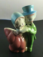 "Vintage Shawnee Pottery Planter, Sweet Couple Dancing, 1940's , 5.1/2"" X 3 5/8"