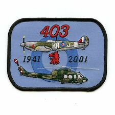 RCAF CAF Canadian 403 60th Anniversary Squadron Colour Crest Patch