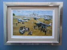 Aircraft print 'Edward Hillman, Gatwick Airport 1936'  FRAMED
