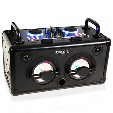 IBIZA DANCE-PARTY 200 Watt Lautsprecher Box Bluetooth 2Kanal Mixer Akku DJ USB