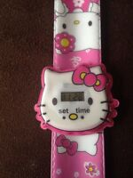 Hello Kitty Kids Digital Pink Wrist Watch Easy Strap Girls Gift Idea UK slap ESY