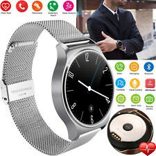 Bluetooth Smart Watch Round Touch Screen For Women Android ios Mobile Cell Phone