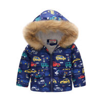 Coat Toddler Baby Winter Warm Outerwear Boy Hooded Jacket Windbreaker Clothes