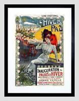 AD WINTER PALACE VENUE SPORT LIESURE PAU FRANCE BLACK FRAME ART PRINT B12X5812