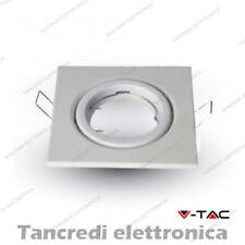 Portalampada da incasso V-TAC VT-7227 quadrato regolabile bianco 99x99 mm