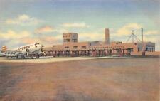 Administration Building, Municipal Airport, Albuquerque, NM ca 1940s Postcard