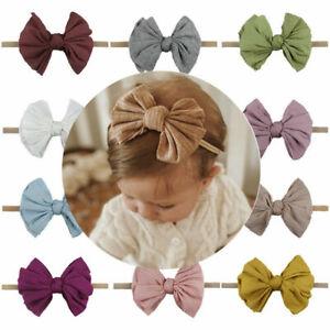 Fashion Baby Headbands Nylon Turban Knot Stretchy Headwrap Newborn Toddler