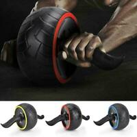 Ab Roller Wheel Abdominal Stomach Exercise Fitness Gym Equipment With Knee Pad