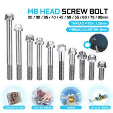 M8 Titanium Flange Hex Head Bolt Cap Screw 20 30 35 40 45 50 55mm 60mm 75mm 90mm