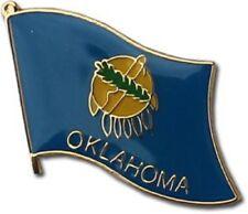State of Oklahoma OK Flag Bike Motorcycle Hat Cap lapel Pin