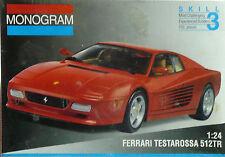 FERRARI TESTAROSSA 512 TR MONOGRAM 1/24 SCALE KIT PLASTIC MODEL CAR