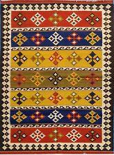 Hand Woven Wool Rug Traditional Kilim Dhurrie Afghan Oriental Area Rug 5x8 ft