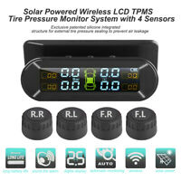 TPMS Solar Wireless Car Tire Tyre Pressure Monitoring System w/ External 4Sensor