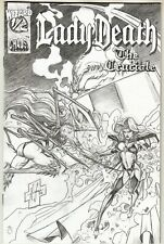 Lady Death The Crucible 1/2(1996) Canvas Sketch Variant Wizard Chaos Comics