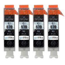 4 Black (PGI) Ink Cartridges for Canon MG5700 MG6800 MG7750 TS5051 TS6052 TS9050