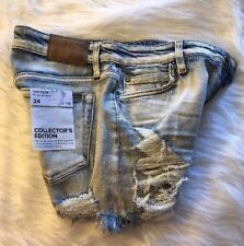 Joes Jeans Womens Collectors Edition Ozzie Destroyed Cutoff Denim Shorts Size 24