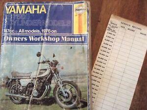 YAMAHA   XS750 3cyl   WORKSHOP SERVICE REPAIR  MANUAL 1976 ON  Haynes XS 750