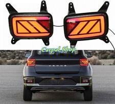 Fit For Hyundai Venue 2020 LED Rear Bumper Reflector Fog Lamp Brake Light L+R