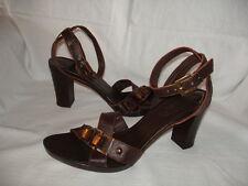 Lea FOSCATI MANAS pelle sandali strass TG 40 Sandali Da Donna Scarpa Marrone