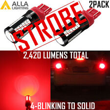 Alla Lighting 7440 STROBE Blinking 4T Brake Light Bulb|Center High Stop|Blinker