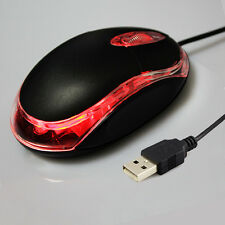 Black USB Wired Optical Light Scroll Wheel Mice Mouse for PC Laptop Computer _M0