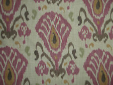 "ZOFFANY CURTAIN FABRIC DESIGN ""Annapurna"" 2.6 METRES PLUM & OLIVE (260 CM)"